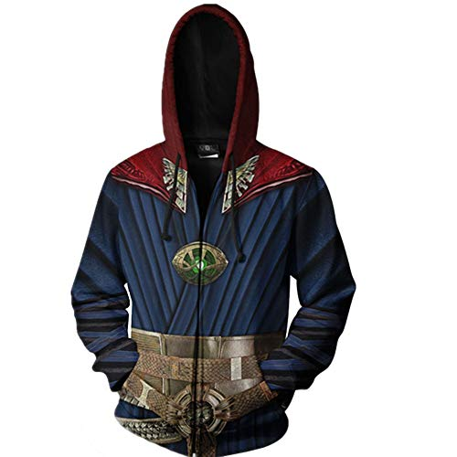 HPY Cosplay Hoodie Costume Sweatshirt DS Coat Stephen Jacket Strange Christmas Halloween M Blue -
