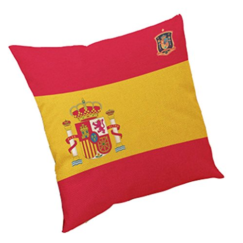 Rain's Pan 2018 Russian world football game 32 strong sign cotton pillowcases bar club pillows on the couch pillow (Spain) by Rain's Pan