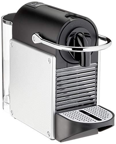 Nespresso De'Longhi Pixie EN124.S Cafetera monodosis cápsulas, 19 Bares, depósito Agua 0.7 L, Apagado automático, Plata…