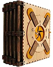 Houten puzzel, Codex Silenda puzzelboek met 5 pagina's, 3D houten puzzeldoos voor kinderen en volwassenen, moeilijkheidsgraad 10 DIY Euclide - Math Brain Teaser-projecten