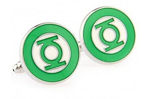 BTS Men's Green Lantern Cufflinks Cuff Links Marvel Comics - (Marvel Green Lantern)