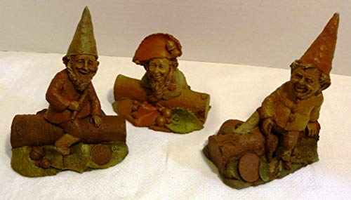 Tom Clark Three (3) Original Gnomes: Eenie, Minie and Moe Made in USA