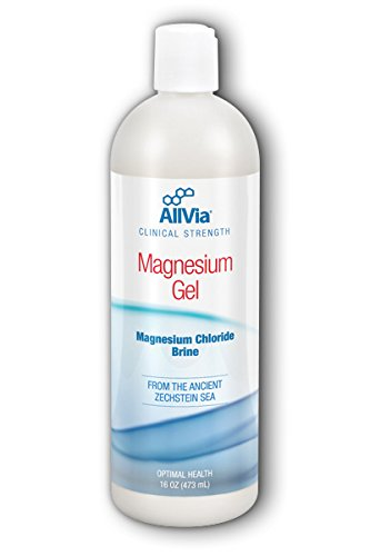 (AllVia Magnesium Gel - Magnesium Chloride Brine from the Ancient Zechstein Sea, Clinical Strength, Paraben Free - 16 Ounces)