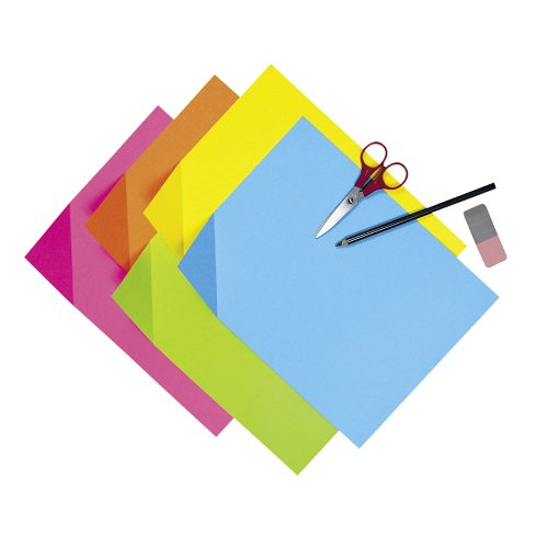 Pacon 1709 Colorwave super bright tagboard, 9 x 12, 100-sheet assortment