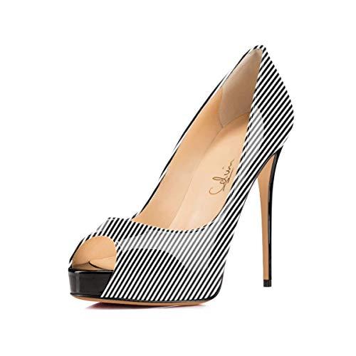 - Women's Peep Toe Hidden Platform Pumps 5