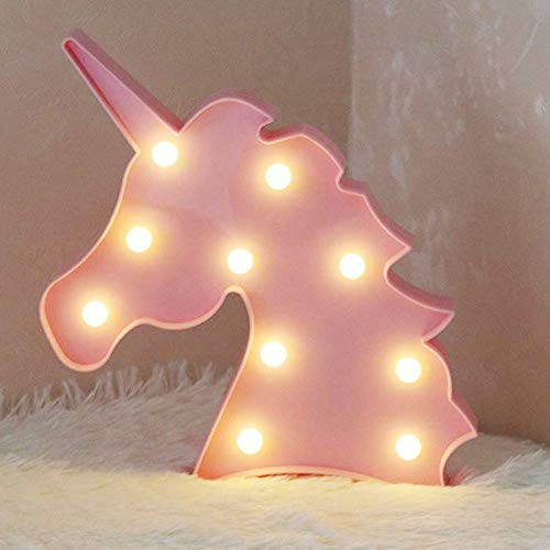 AIZESI Pink Unicorn Light Room Decor,Unicorn Lamps Neon Signs,Unicorn LED Night Light Wall Decoration for Girls Bedroom,Living Room,Christmas,Party as Kids Gift(Pink Unicorn)