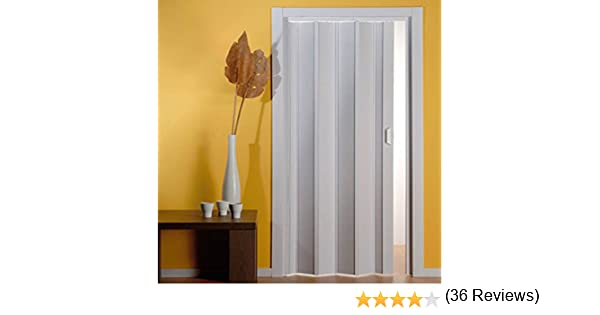 PORTE A SOFFIETTO PVC 82X210 BIANCO (085772): Amazon.es: Hogar
