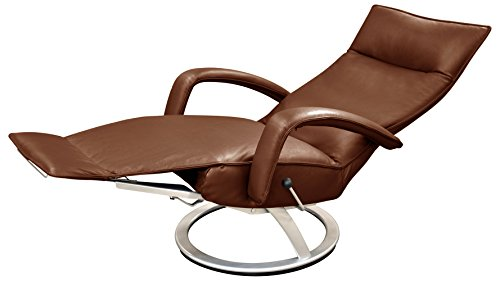 Gaga Recliner Chair Saddle Leather by Lafer Recliner (Saddle Leather Recliner)