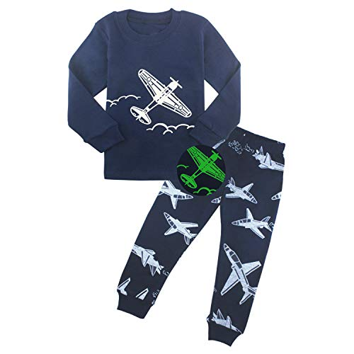 Aircraft Pajamas for Boys Kids Clothes Toddler PJs Sets Long Sleeve Sleepwear Size 4