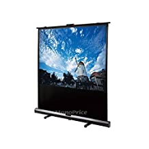 Monoprice Portable Pull-UP Projection Screen -White Fabric, 80-Inch (108005)