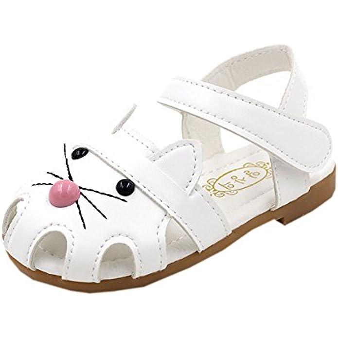 Vokamara Cat Shoes Toddler Walking Shoes Little Girl Close Toe Flat Sandals