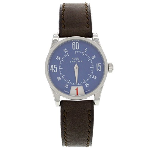 Enigma by Gianni Bulgari 115201S Blue Dial & Brown Band Ladies Watch