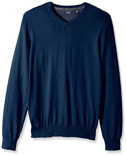 IZOD Men's Fine Gauge Solid V-Neck Sweater
