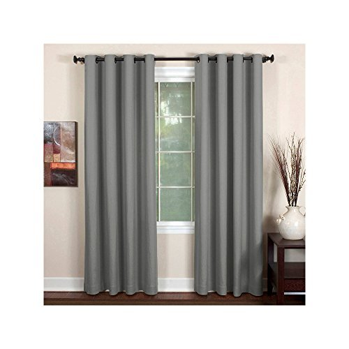 Elrene Essex Grommet 50 X 95 Panel Gray - Single panel only