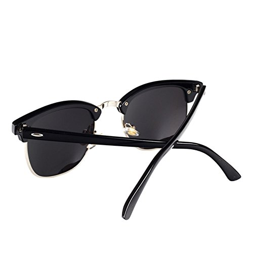 afe49d1cd9 Pro Acme Classic Semi Rimless Polarized Clubmaster Sunglasses with ...