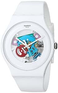 Swatch STSUOW100 - Reloj para mujeres, correa de plástico color blanco