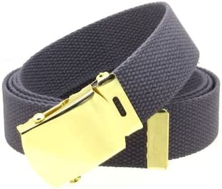 """Canvas Web Belt Military Style with Brass Buckle and Tip 54/"""" Long Many Colors T"""