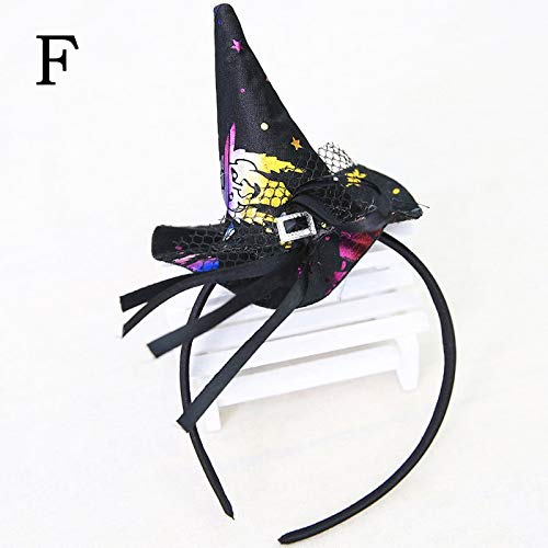 Party Diy Decorations - Halloween Props Cobweb Witch Hat Costume Headband Party Women Hairband Hair Dress Up - Decorations Party Party Decorations Witch Broom Fancy Pumpkin Headband Hairband -