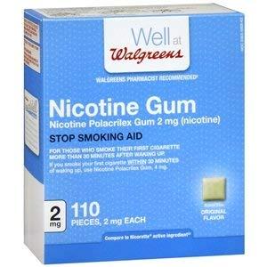 Walgreens Nicotine Gum, 2mg, Original, 110 ea