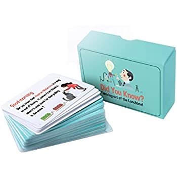 Lunchbox Did you know cards, spark children's imagination and encourage them to explore, ask and Develop children's curiosity and Improve personal relationships (56 cards in pack).