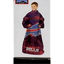 NFL Buffalo Bills Youth Size Comfy Throw Blanket with Sleeves