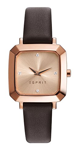 Esprit Watch TP10932 Brown - ES109322003-Brown - calfskin-Rectangular