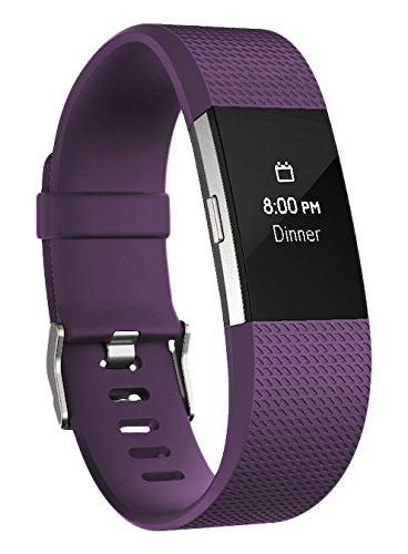 Fitbit Charge 2 Monitor de Actividad, Tamaño Chico, color morado