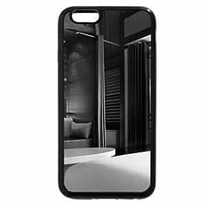iPhone 6S Plus Case, iPhone 6 Plus Case (Black & White) - Water Villa interior Bora Bora