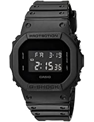 Casio Mens G SHOCK Quartz Resin Casual Watch, Color:Black (Model: DW-5600BB-1CR)