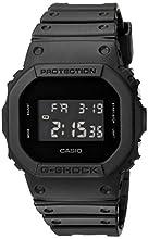 Casio G Shock Quartz Watch with Resin Strap, Black, 30 (Model: DW-5600BB-1CR)