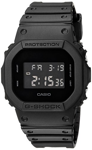 Casio Men's G Shock Quartz Watch with Resin Strap, Black, 30 (Model: DW-5600BB-1CR)