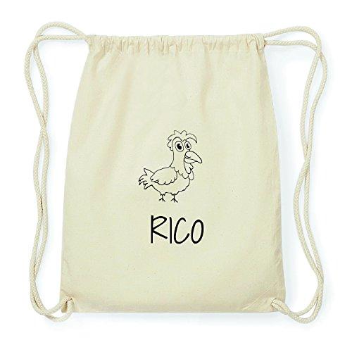 JOllipets RICO Hipster Turnbeutel Tasche Rucksack aus Baumwolle Design: Hahn v2inu