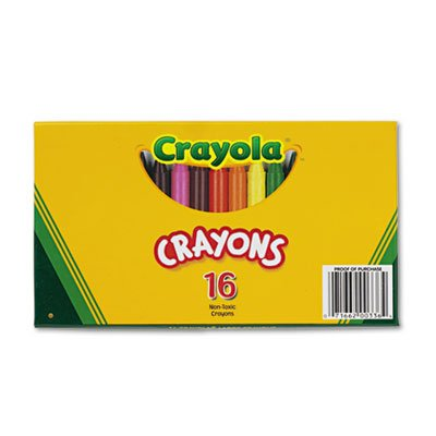 Large Crayons, 16 Colors/Box, Sold as 16 Each