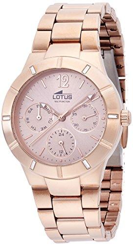 Lotus-159152-Reloj-de-pulsera-Mujer-Acero-inoxidable-color-Oro-Rosa