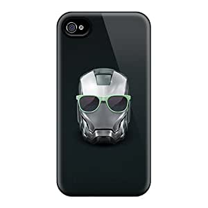 New Iron Man Helmet Summer Glasses Tpu Case Cover, Anti-scratch Lkw8728uhQM Phone Case For Iphone 4/4s