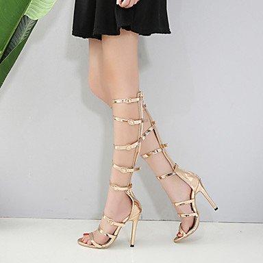 Aiguille Chaussures Printemps Pour Similicuir Cn40 Talon Et Sandales Us8 Femme Mariage Fschooly Bottes 5 Nouveaut 5 Dcontract Uk6 Confort Or Eu39 vwdA4Wq