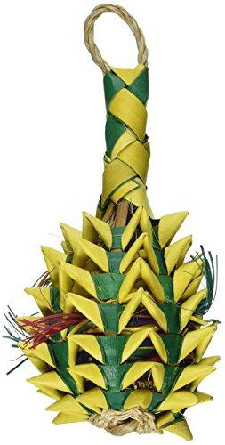 Bonka Bird Toys 03364 Small Foraging Pineapple Bird Toy Parrot Medium Planet Pinata Large Cockatiel Pleasure Parakeet Forage chew Conure Playground Wood pet Stuffed Treat Macaw ()