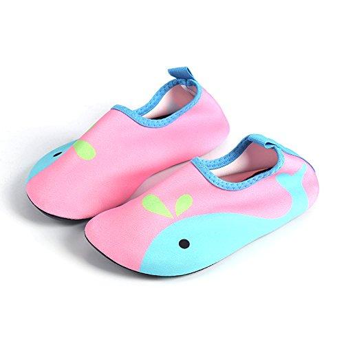 J&T Chaussures Bébé Chaussures Bébé Garçon Filles Chaussures Aquatiques Enfant Chaussures D'eau Chaussures de Plage de Sport Plongée Aqua Gymnase Piscine Surfer Yoga Rose AAKTS7