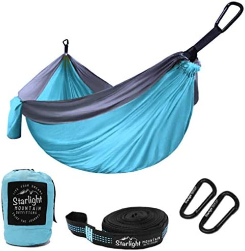 Outdoors Travel Camping Best Hammock for Backpacking Starlight Mountain Outfitters Single//Double Hammock Portable Lightweight Parachute Nylon with Tree Straps Hiking