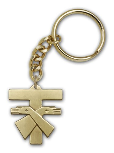 Religious Obsession Antique Gold Franciscan Cross Keychain