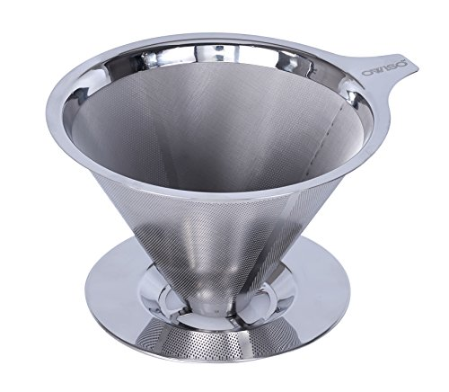 Pour Over Coffee Maker Stainless Steel : Ovviso Stainless Steel Reusable Coffee Filter - Paperless Pour Over Coffee Dripper - Metal ...