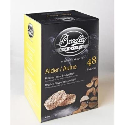 Bradley Smoker Alder Bisquettes, 48 Pack by Table Top King