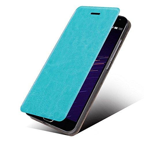 (LG Stylo 4 Case, LG Q Stylus Case, LG Q Stylus Plus Case, MAIKEZI Slim Folio/Flip Pu Leather With Stand TPU Bumper Back Phone Case Cover For LG Stylo 4 Plus/LG Q Stylus 4+ (Blue Leather Case Z))