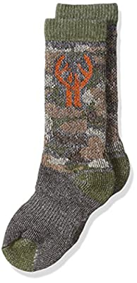 2 Pack Huntworth Boy's Camo Wool Blend Boot Sock