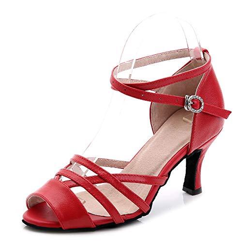 cm di Donna da 0 Hutt 5 cm da ballo morbide estive Scarpe latino adulto montone 5 Altezza rosse da Dimensioni 25 cm ballo a Scarpe Pelle 22 7 trYqqwa5