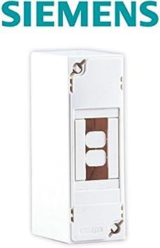 SIEMENS Ingenuity for life - Mini caja de distribución 1 fila 2 módulos: Amazon.es: Bricolaje y herramientas