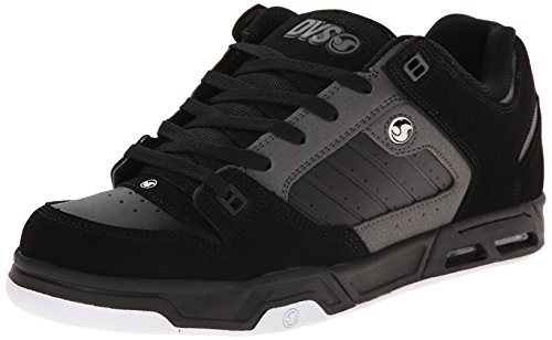 DVS Men's Militia Heir Skateboarding Shoe, Black/Grey Nubuck, 11 M US by DVS