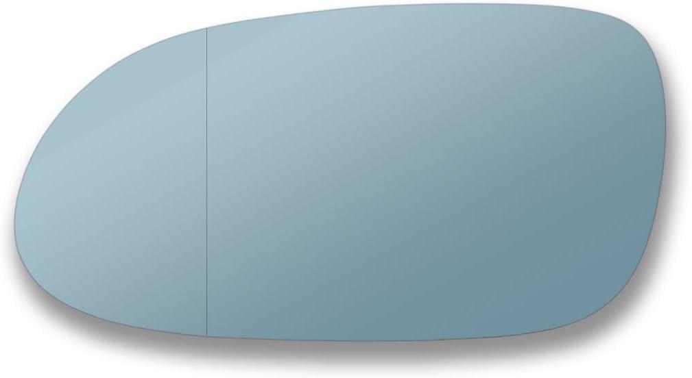 Echtglas Spiegelglas Glas links meclk T/ür Stick auf Spiegel Ersatz Beifahrerseite Quick Fix BLAU #