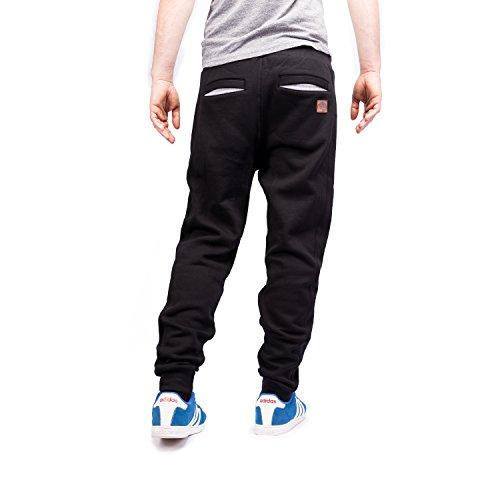 MZet Jogginghose Herren (schwarz, lang, S , M , L , XL) - stylische Baggy Sweatpants für Sport und Freizeit, Cargo Jogger