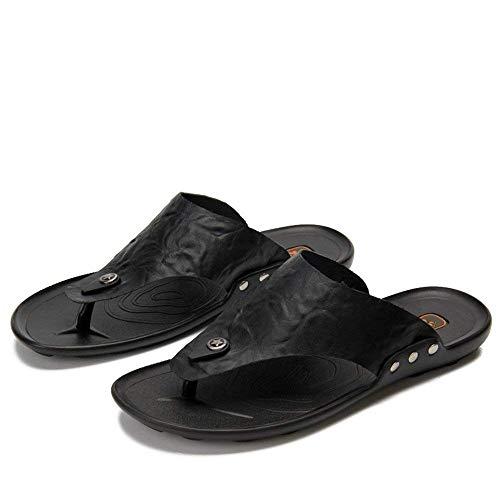 Chancletas Planas 42 Antideslizantes Genuino Tamaño De color Tamaño Negro Negro Sandalias Hombres Ocasionales Zapatos Marrón Ue 39 Zapatillas 2018 Playa Eu Suaves Cuero Color xvFIwppq